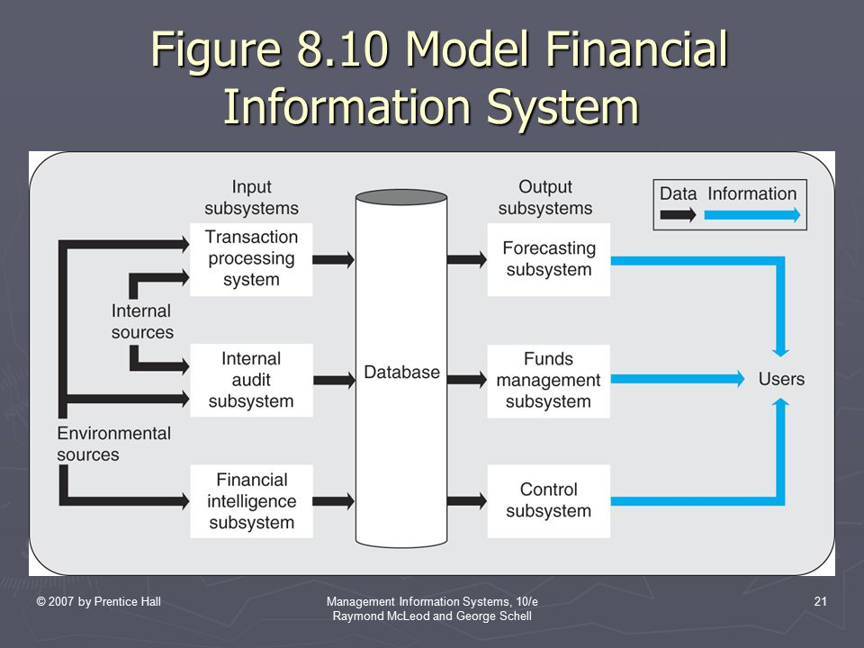 Figure 8.10 Model Financial Information System