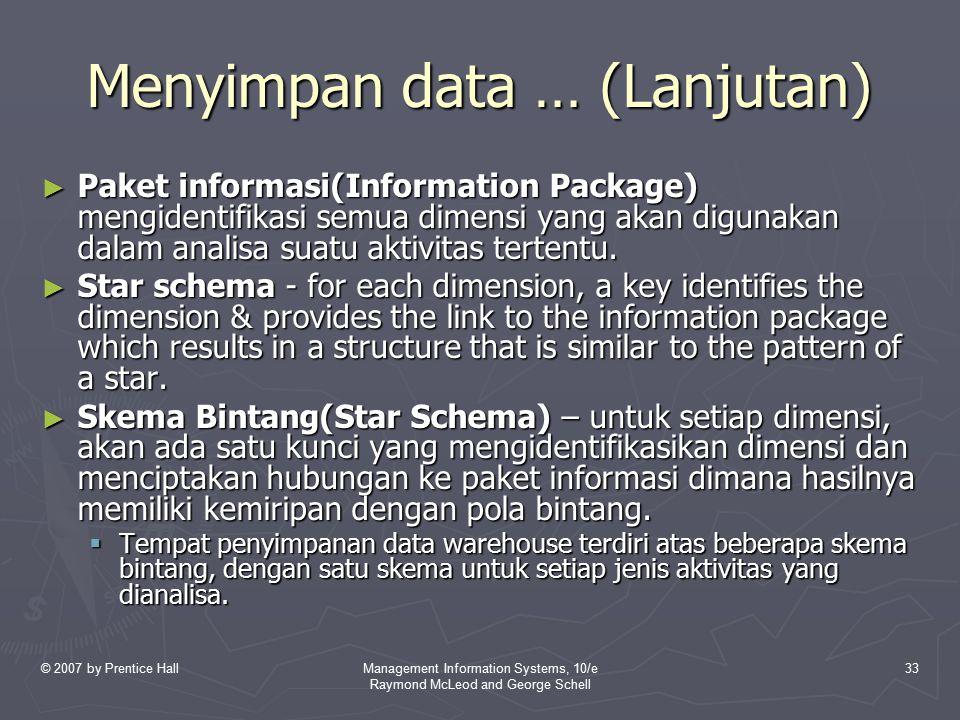 Menyimpan data … (Lanjutan)