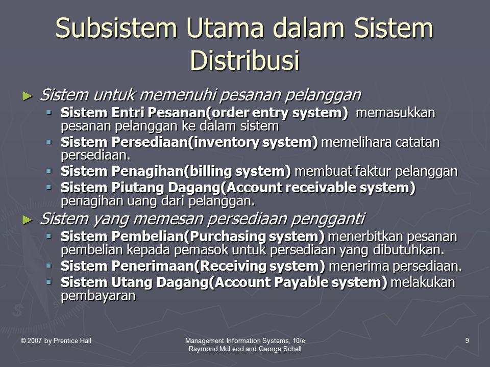 Subsistem Utama dalam Sistem Distribusi