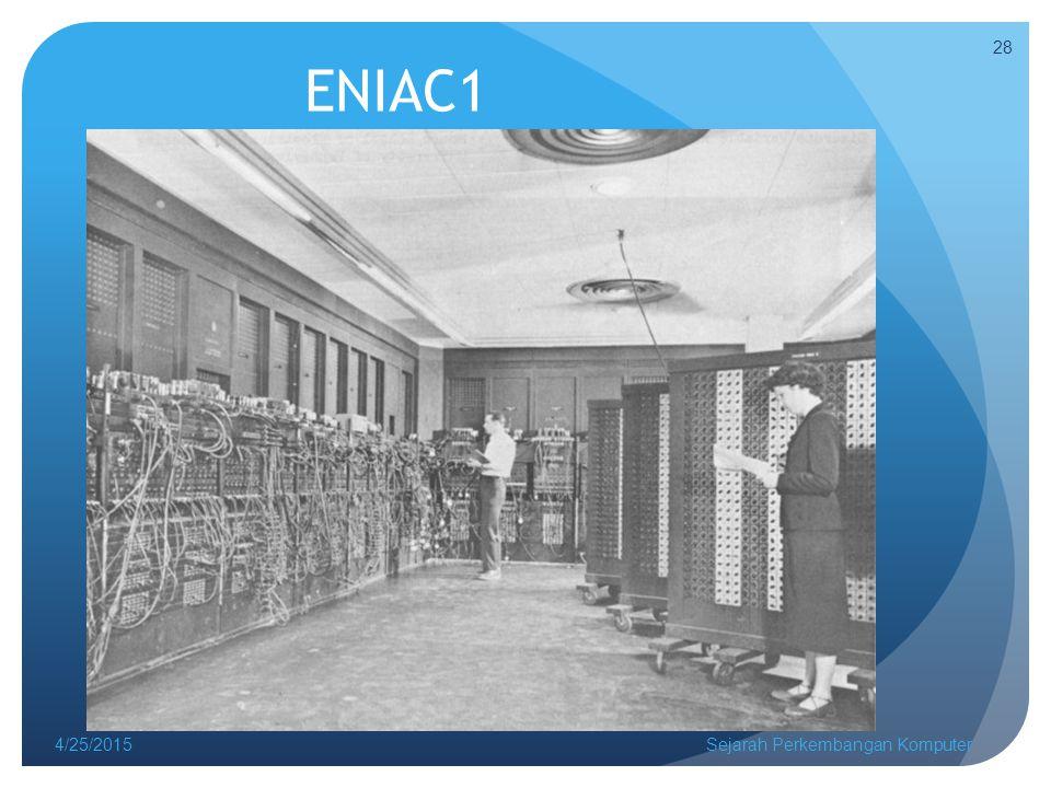 ENIAC1 4/14/2017 Sejarah Perkembangan Komputer