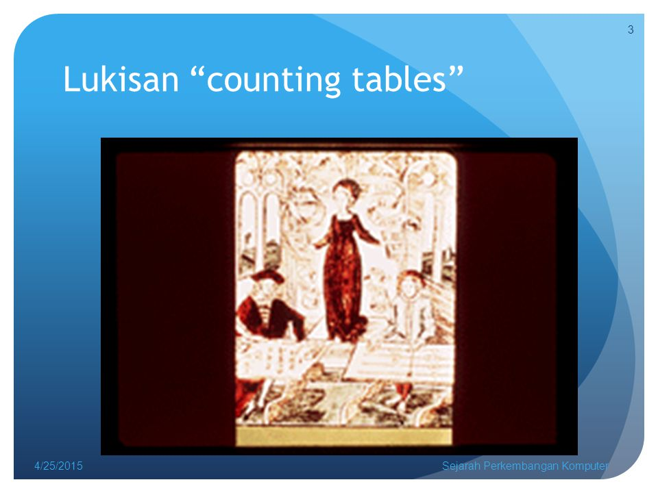 Lukisan counting tables