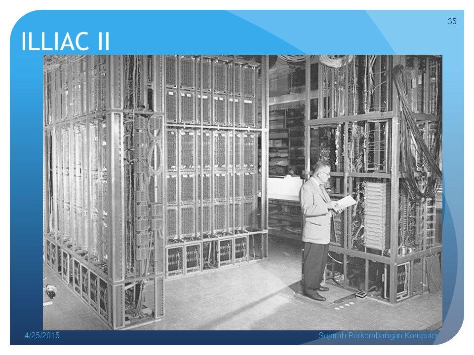 ILLIAC II 4/14/2017 Sejarah Perkembangan Komputer
