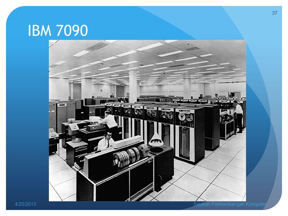 IBM 7090 4/14/2017 Sejarah Perkembangan Komputer