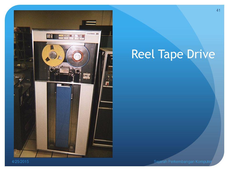 Reel Tape Drive 4/14/2017 Sejarah Perkembangan Komputer