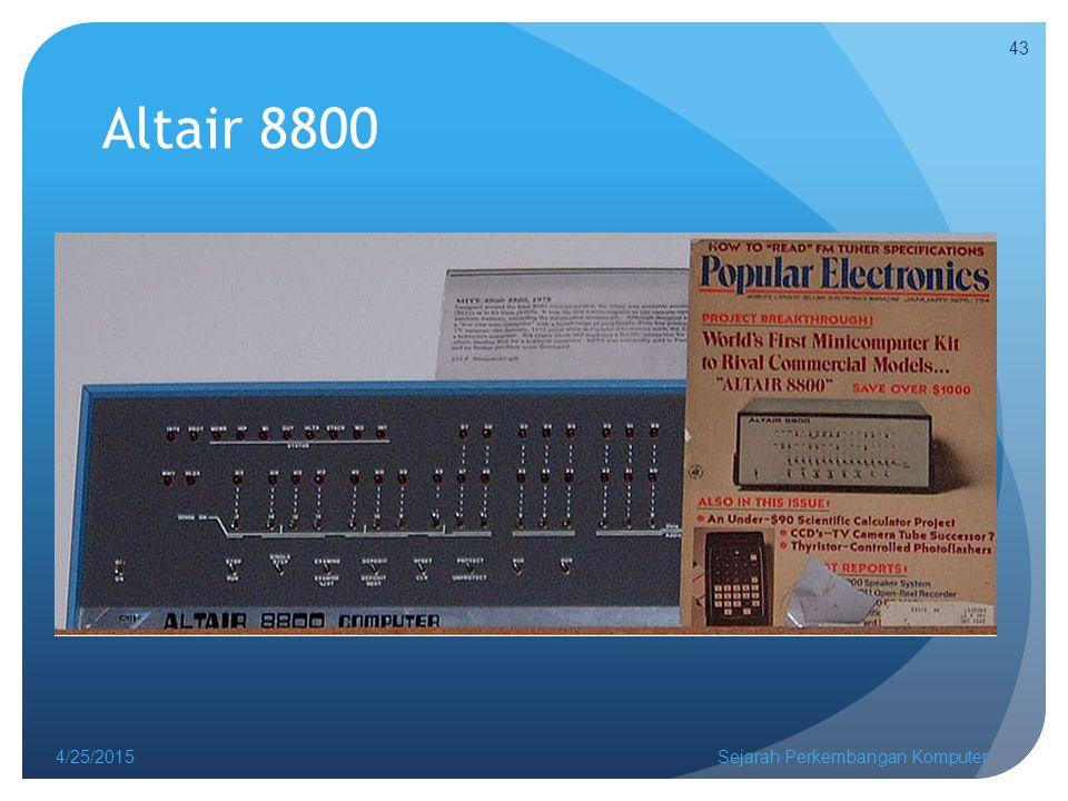 Altair 8800 4/14/2017 Sejarah Perkembangan Komputer