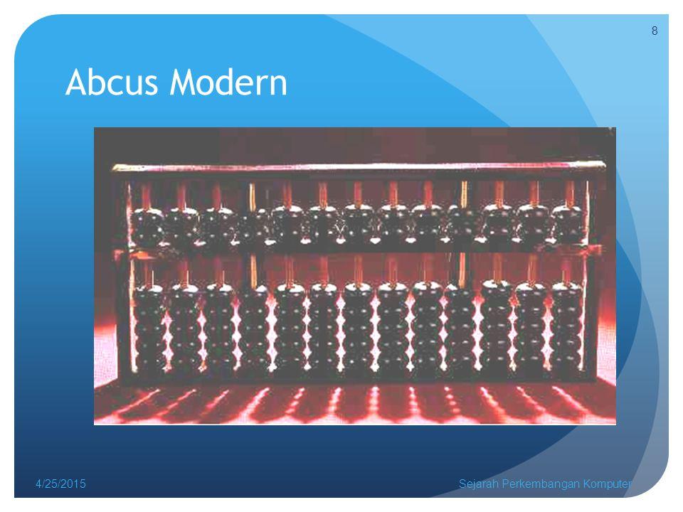 Abcus Modern 4/14/2017 Sejarah Perkembangan Komputer