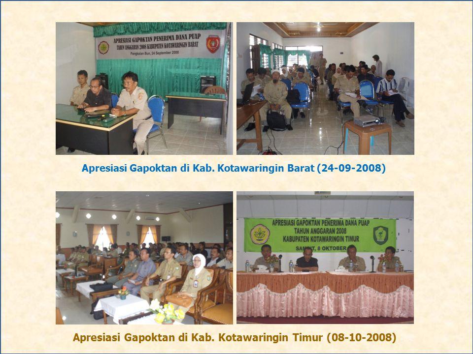Apresiasi Gapoktan di Kab. Kotawaringin Timur (08-10-2008)