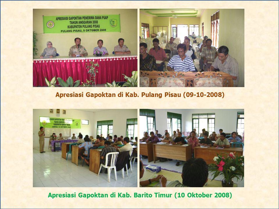 Apresiasi Gapoktan di Kab. Pulang Pisau (09-10-2008)