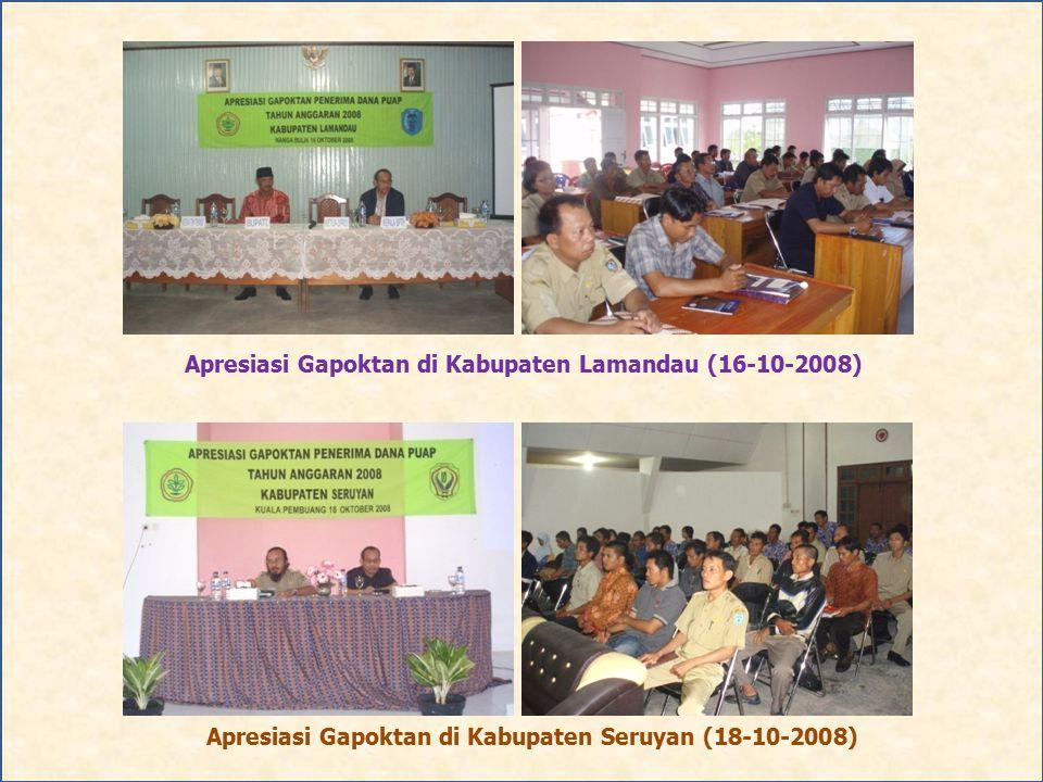 Apresiasi Gapoktan di Kabupaten Lamandau (16-10-2008)