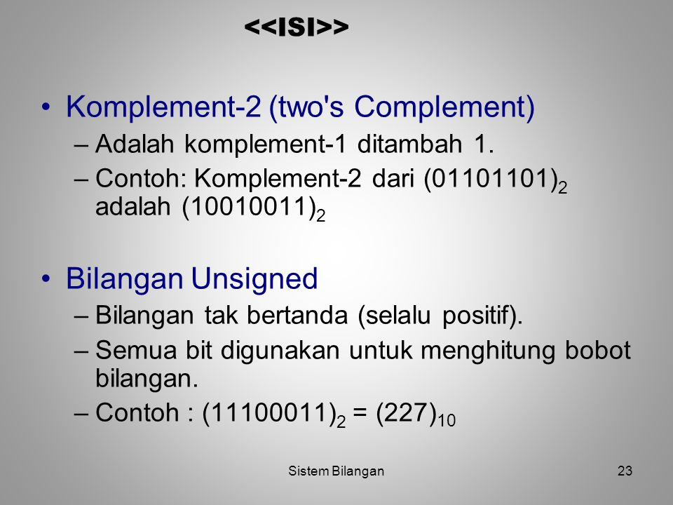 Komplement-2 (two s Complement)