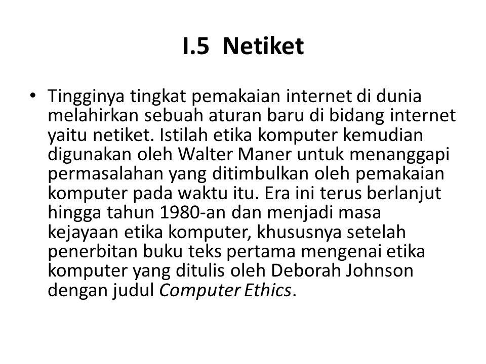 I.5 Netiket