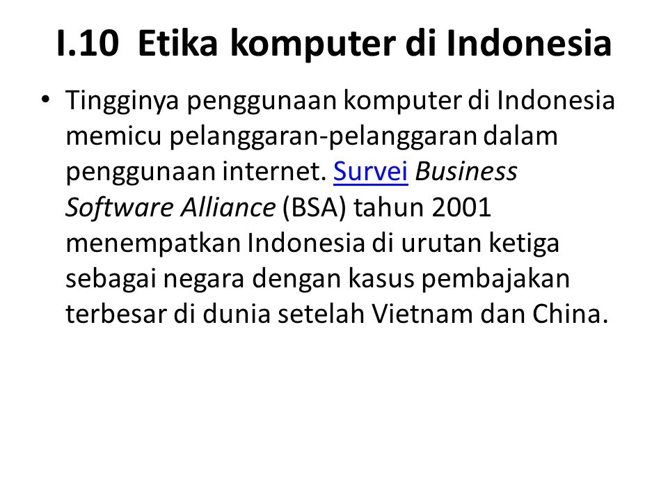I.10 Etika komputer di Indonesia