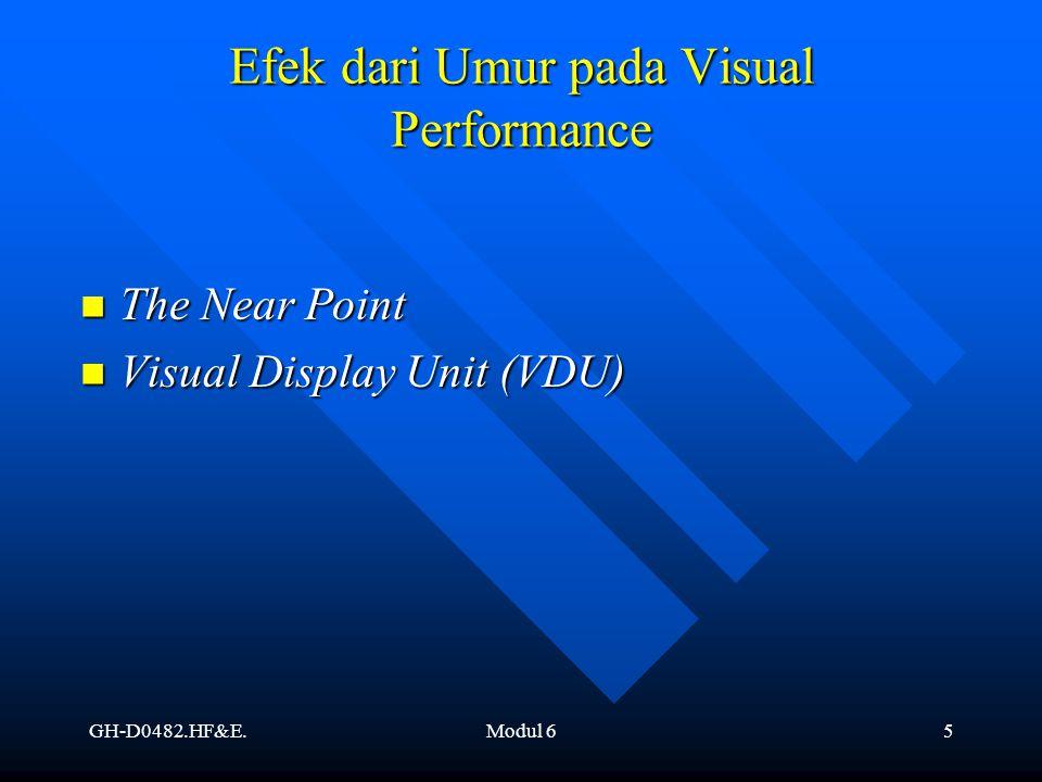 Efek dari Umur pada Visual Performance
