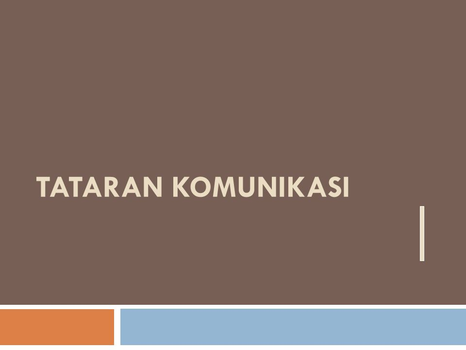 Tataran Komunikasi