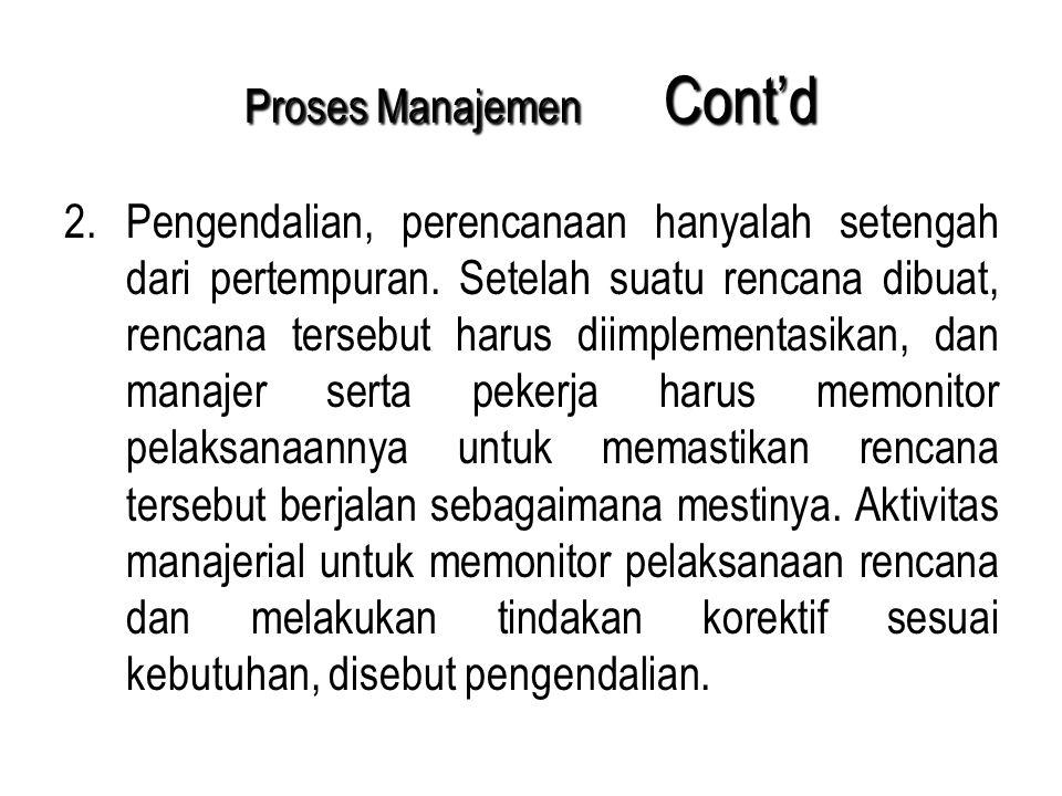 Proses Manajemen Cont'd