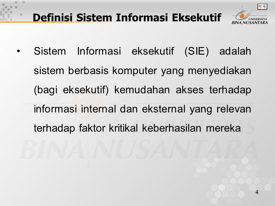 Definisi Sistem Informasi Eksekutif