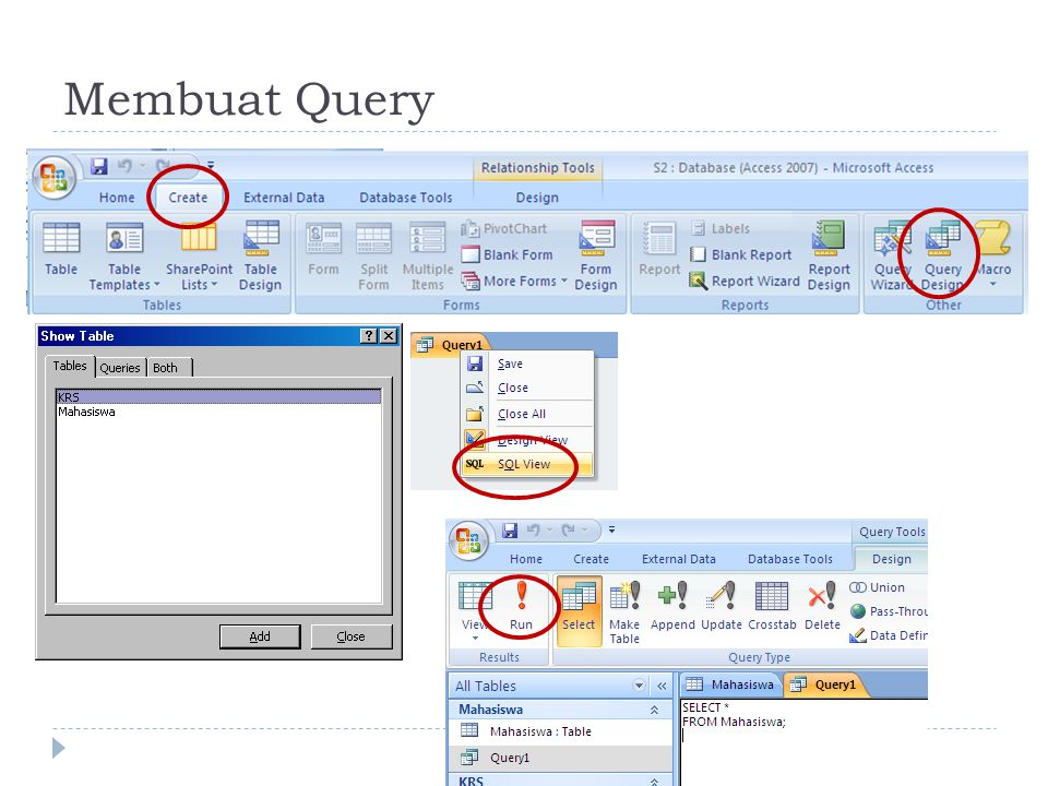 Membuat Query
