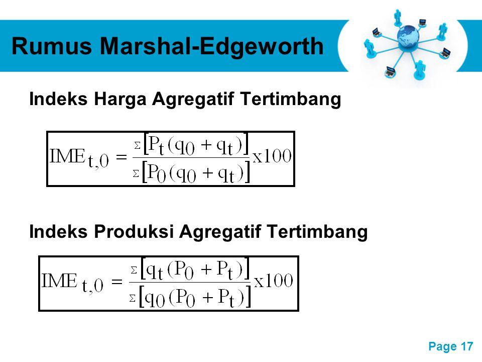 Rumus Marshal-Edgeworth
