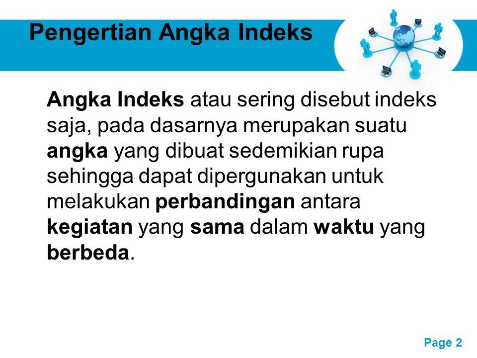 Pengertian Angka Indeks