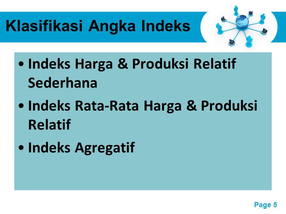 Klasifikasi Angka Indeks