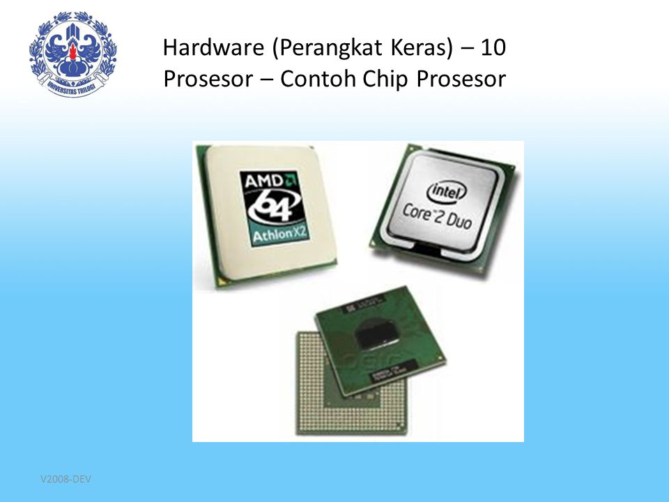 Hardware (Perangkat Keras) – 10 Prosesor – Contoh Chip Prosesor