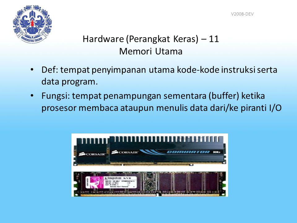 Hardware (Perangkat Keras) – 11 Memori Utama