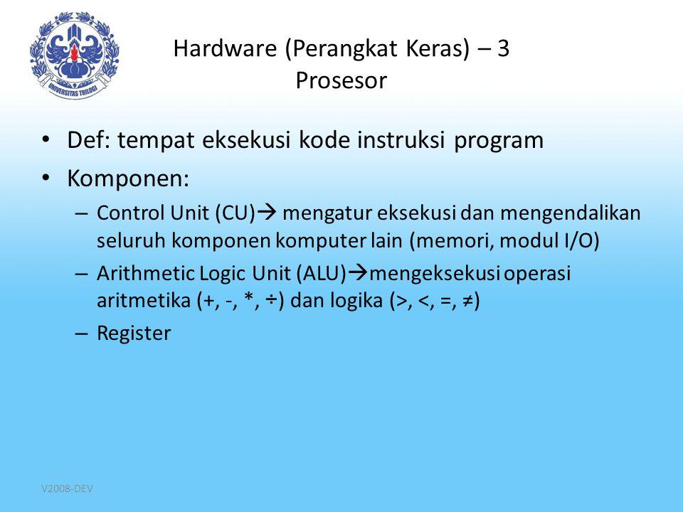 Hardware (Perangkat Keras) – 3 Prosesor
