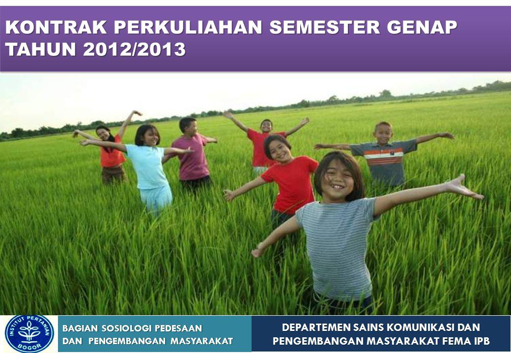 KONTRAK PERKULIAHAN SEMESTER GENAP TAHUN 2012/2013