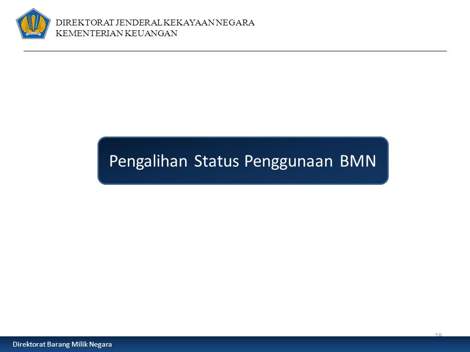 Pengalihan Status Penggunaan BMN