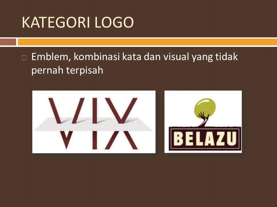 KATEGORI LOGO Emblem, kombinasi kata dan visual yang tidak pernah terpisah