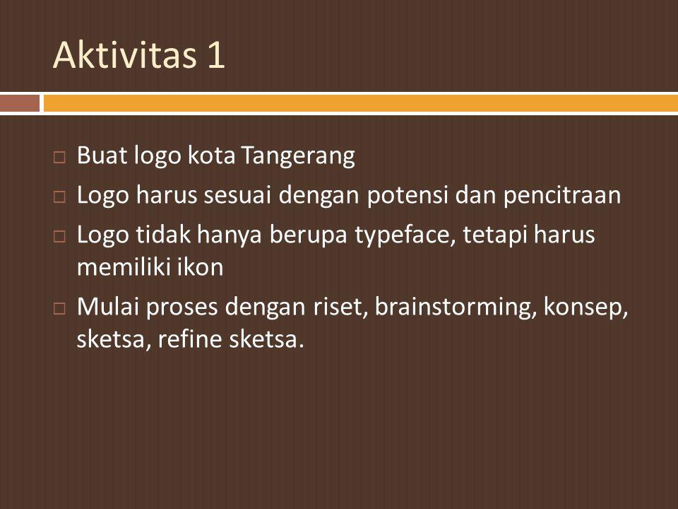 Aktivitas 1 Buat logo kota Tangerang