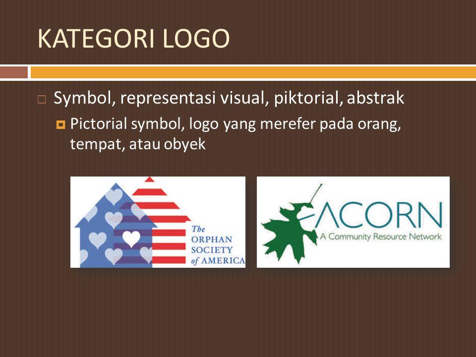 KATEGORI LOGO Symbol, representasi visual, piktorial, abstrak