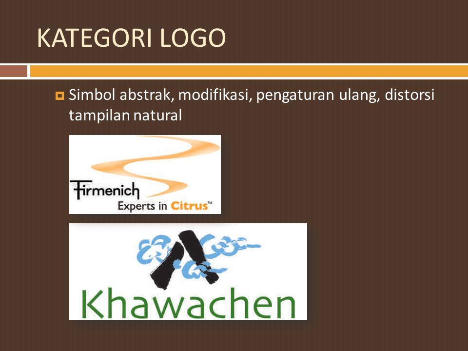 KATEGORI LOGO Simbol abstrak, modifikasi, pengaturan ulang, distorsi tampilan natural