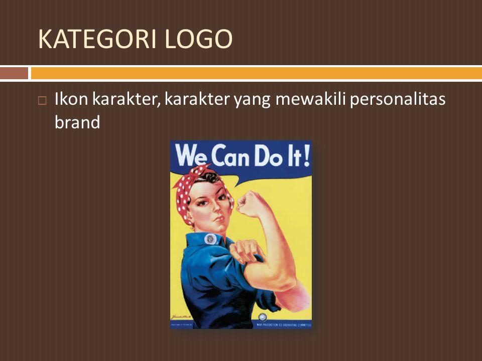 KATEGORI LOGO Ikon karakter, karakter yang mewakili personalitas brand