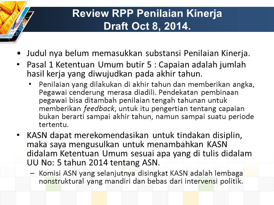 Review RPP Penilaian Kinerja Draft Oct 8, 2014.