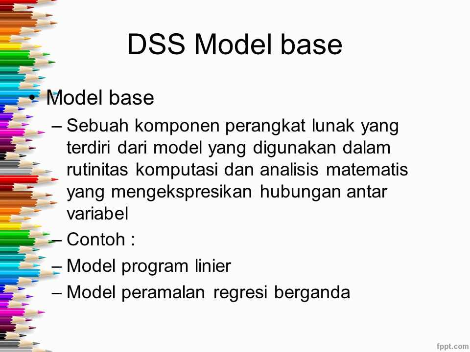 DSS Model base Model base