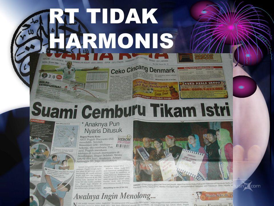 RT TIDAK HARMONIS