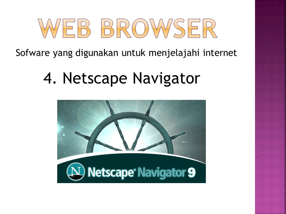 WEB BROWSER 4. Netscape Navigator
