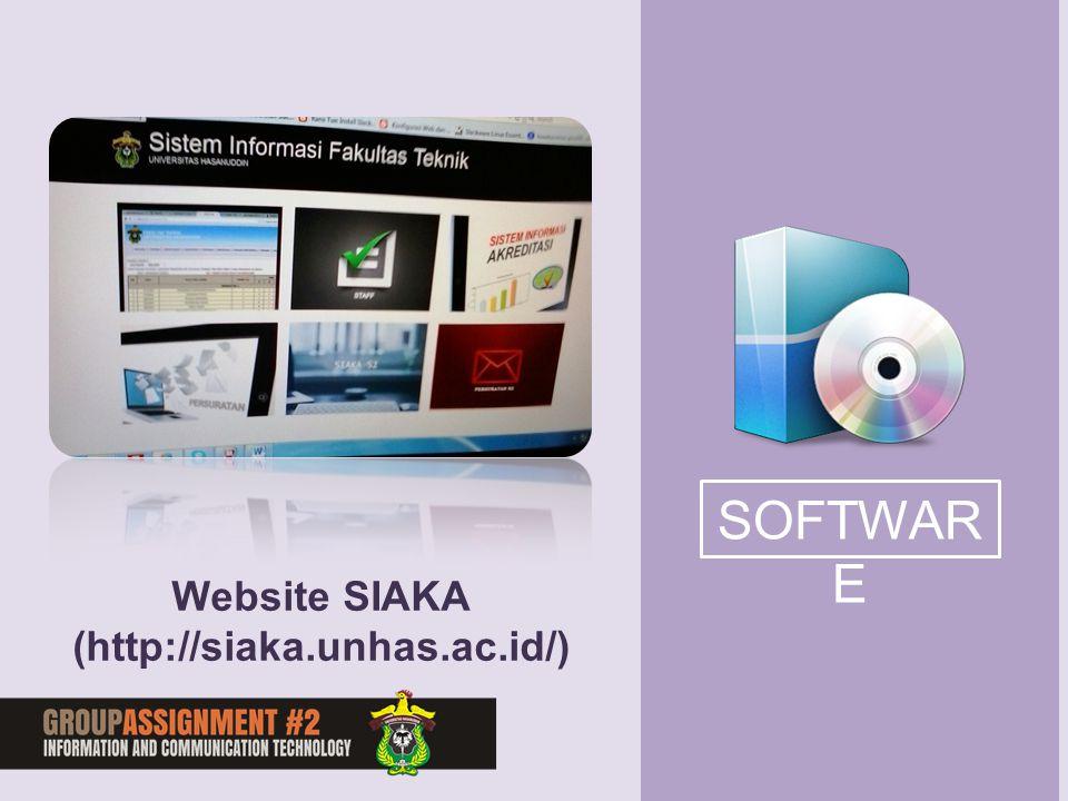 SOFTWARE Website SIAKA (http://siaka.unhas.ac.id/)