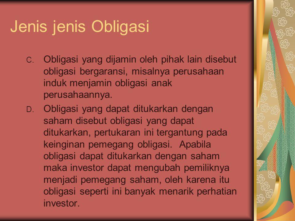 Jenis jenis Obligasi