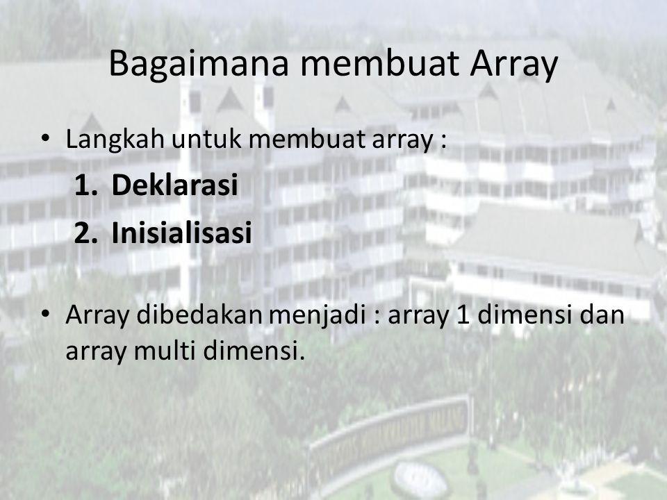 Bagaimana membuat Array