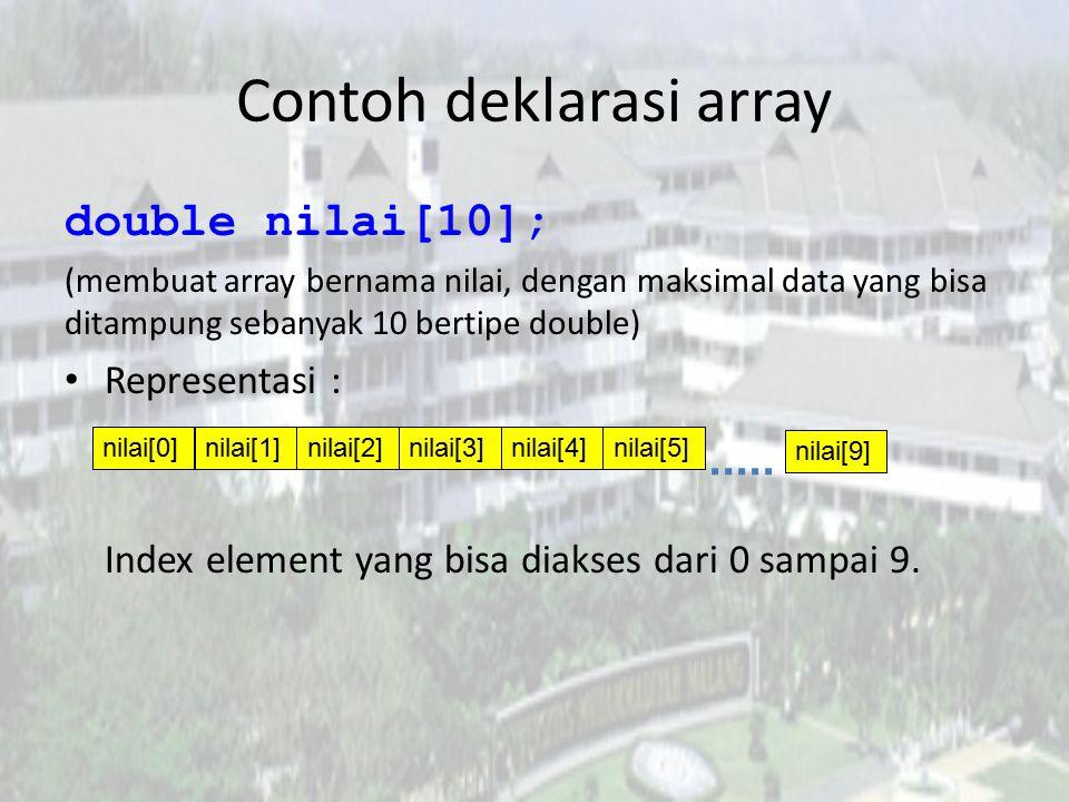Contoh deklarasi array