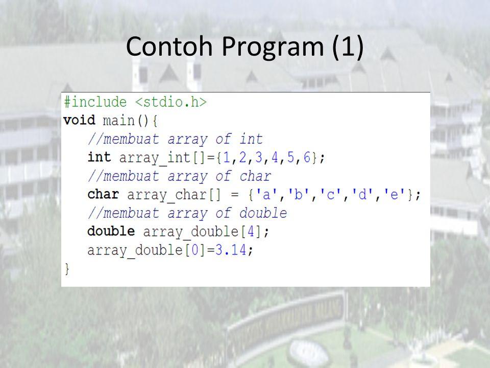 Contoh Program (1)