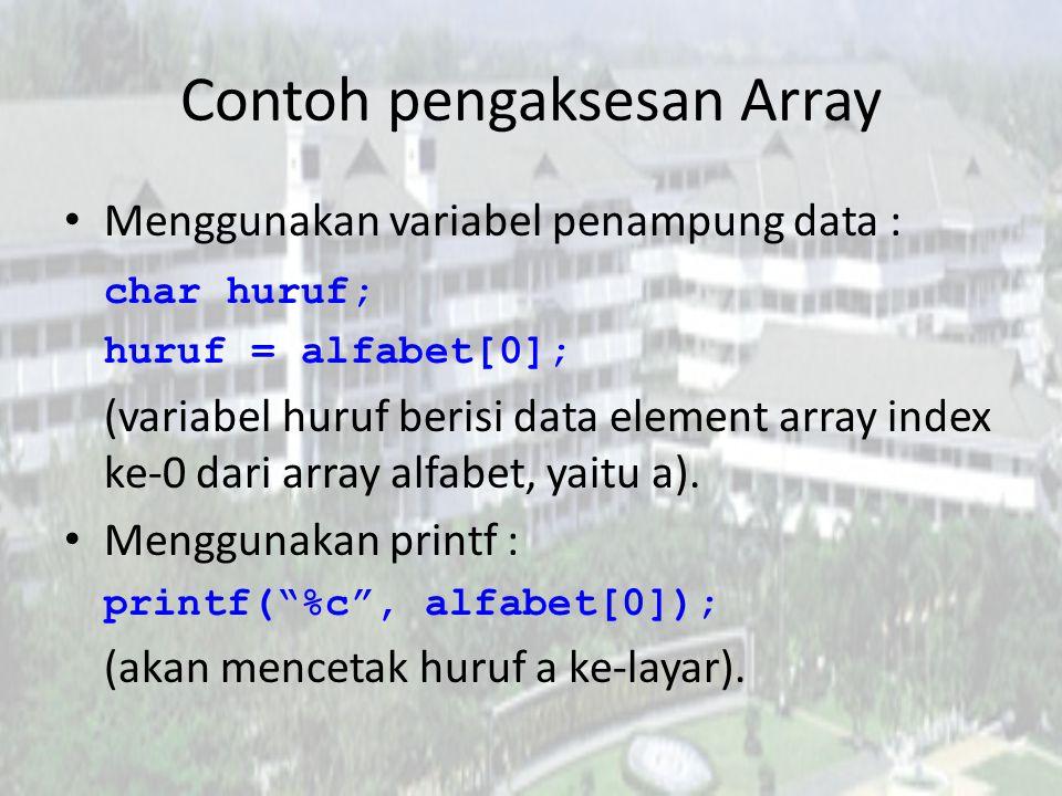 Contoh pengaksesan Array