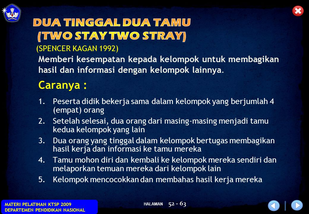 DUA TINGGAL DUA TAMU (TWO STAY TWO STRAY)