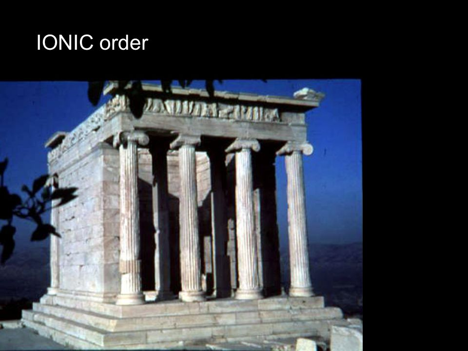 IONIC order