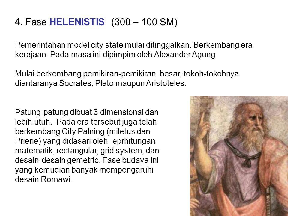 4. Fase HELENISTIS (300 – 100 SM)