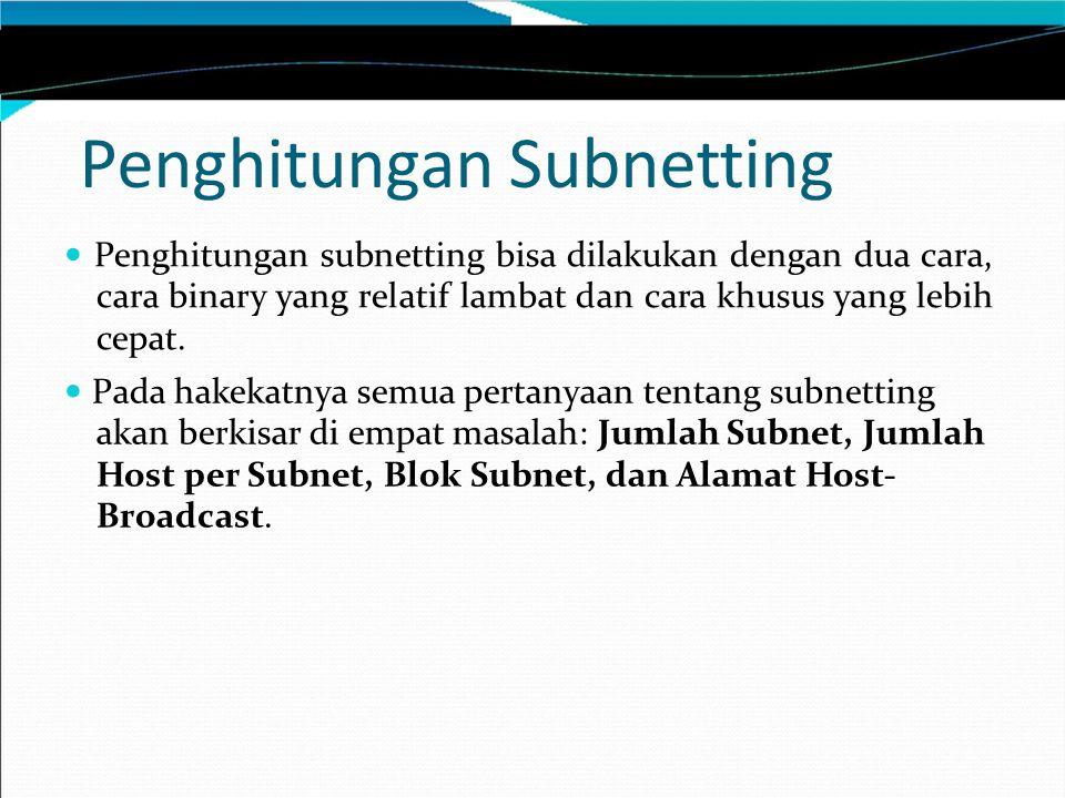 Penghitungan Subnetting