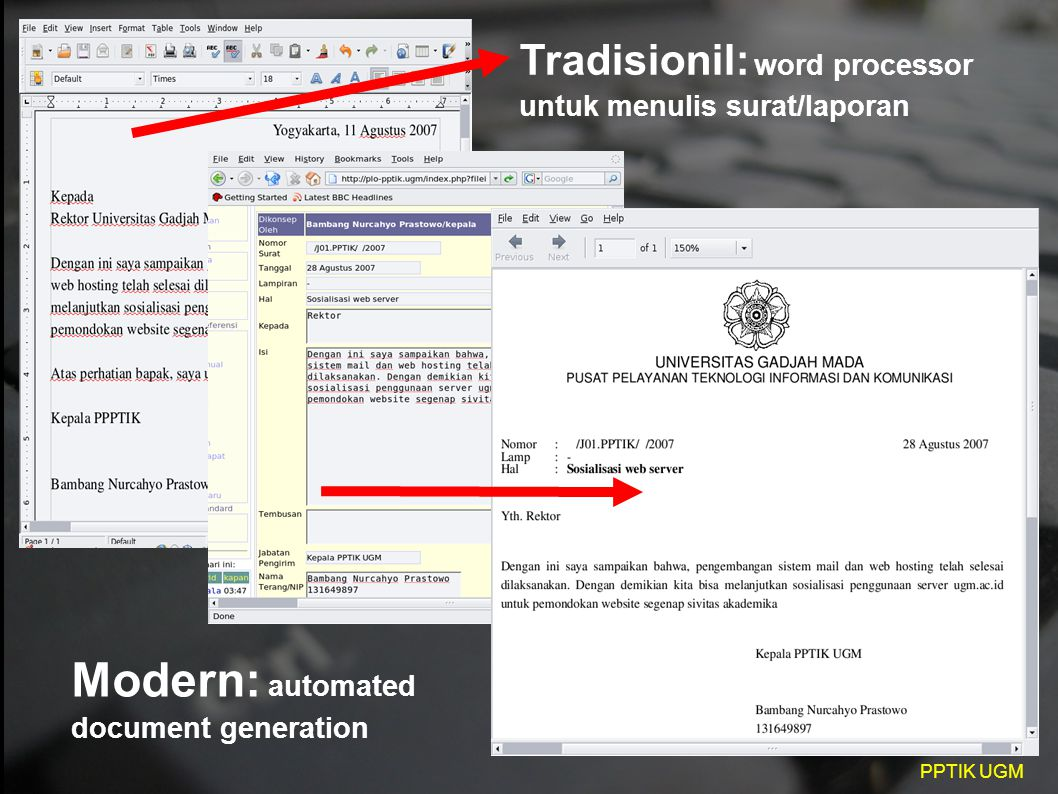 Modern: automated document generation
