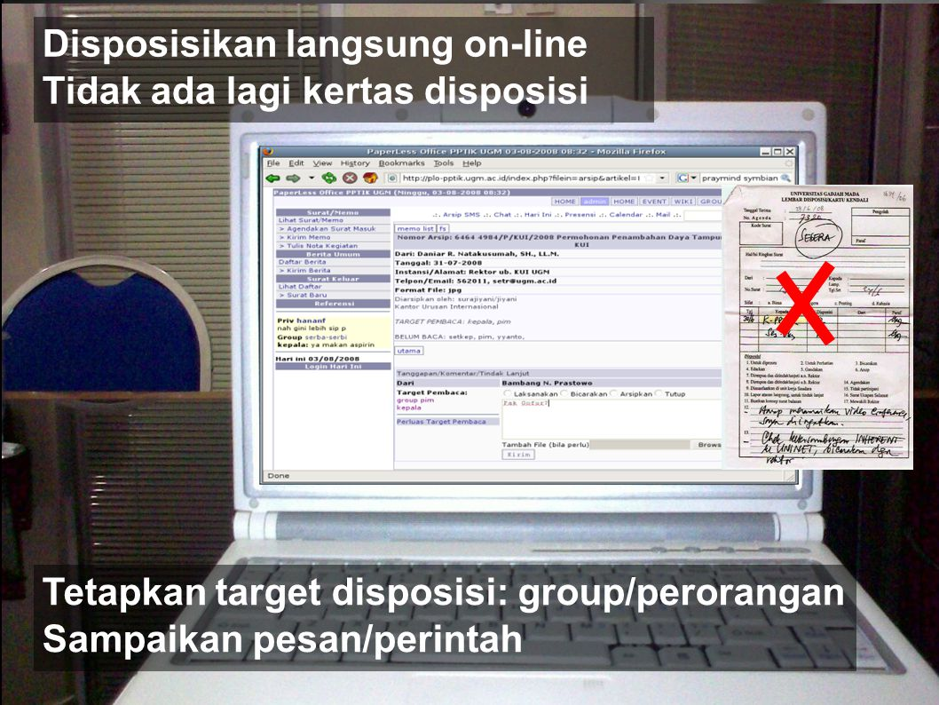 Disposisikan langsung on-line